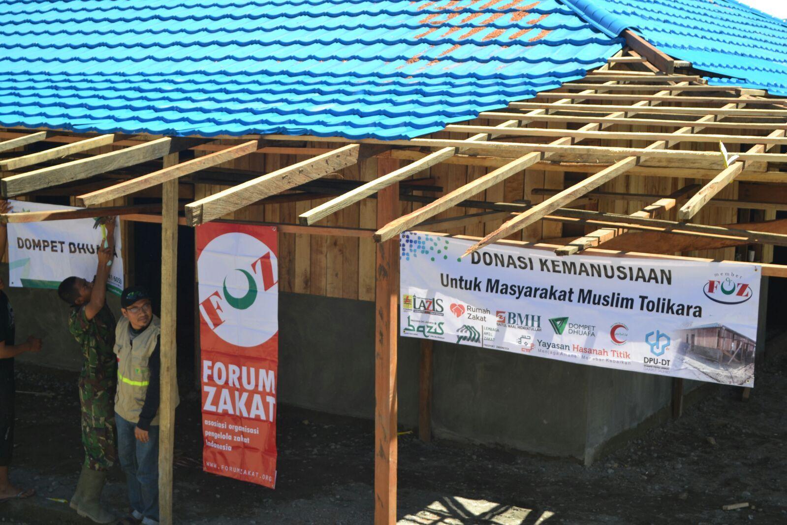 Foto Terbaru Pembangunan Masjid Baitul Muttaqin Di Tolikara