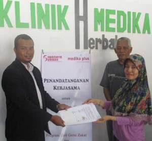 LAZ Swadaya Ummah Jalin Kerjasama Dengan Klinik Herbal Medika Plus