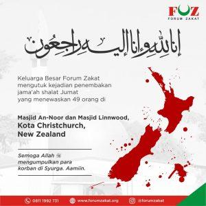 Forum Zakat Mengutuk Penembakan Muslim di New Zeland