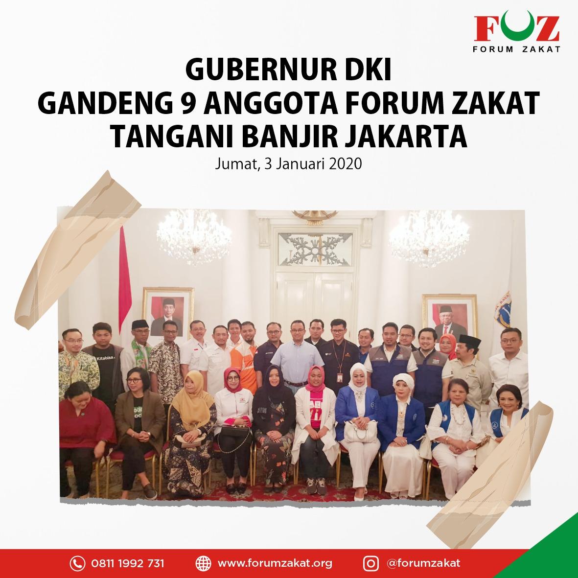 Gubernur DKI Gandeng Anggota Forum Zakat Tangani Banjir Jakarta