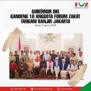 Gubernur DKI Gandeng 10 Anggota Forum Zakat Tangani Banjir Jakarta