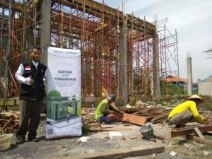 Bersama Sakinah Supermarket, BMH Bantu Pembangunan Mushola Pinggiran Kota
