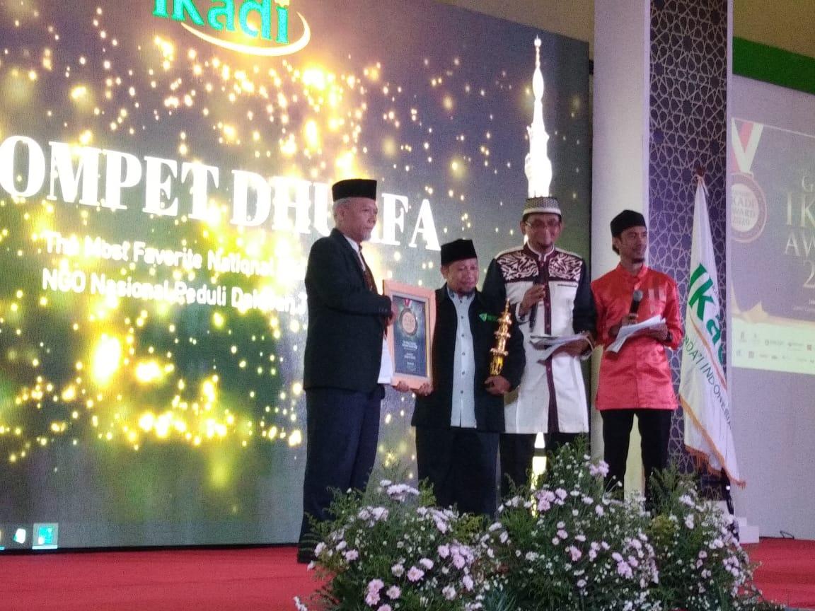 Dompet Dhuafa Raih Penghargaan 'The Most Favorite National Islamic NGO' dari IKADI