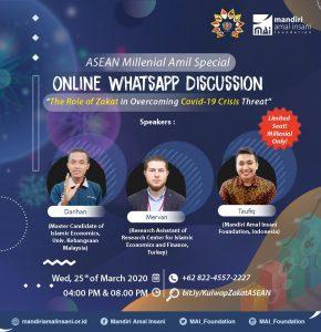 Diskusi Bersama Amil Muda ASEAN MAI Foundation Bahas Peran Zakat dalam Krisis Covid-19