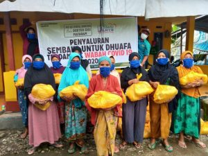 Gandeng Majelis Taklim Para Dokter, LAZ Dasi NTB Bagikan Sembako