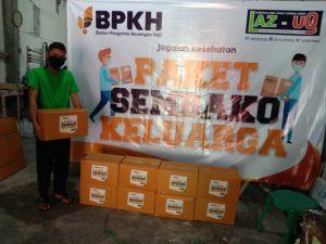 Gandeng LAZUQ, BPKH Sumbang Sembako untuk Masyarakat Terdampak Corona