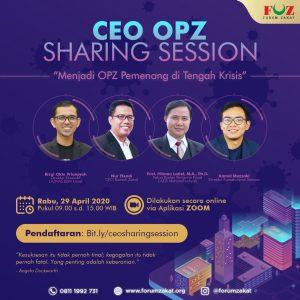 Besok! Forum Zakat Akan Gelar 'CEO OPZ Sharing Session' Daring