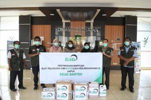 Distribusikan APD, Direktur Harfa : Kami dan Donatur Ingin Bantu Tenaga Medis