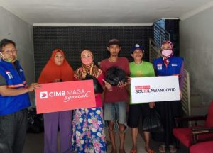 Solid Lawan Covid, DT Peduli Malang dan CIMB Niaga Syariah Berbagi Sembako