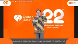 Peringati 22 Tahun Berdiri, Rumah Zakat Adakan Tasyakuran Virtual