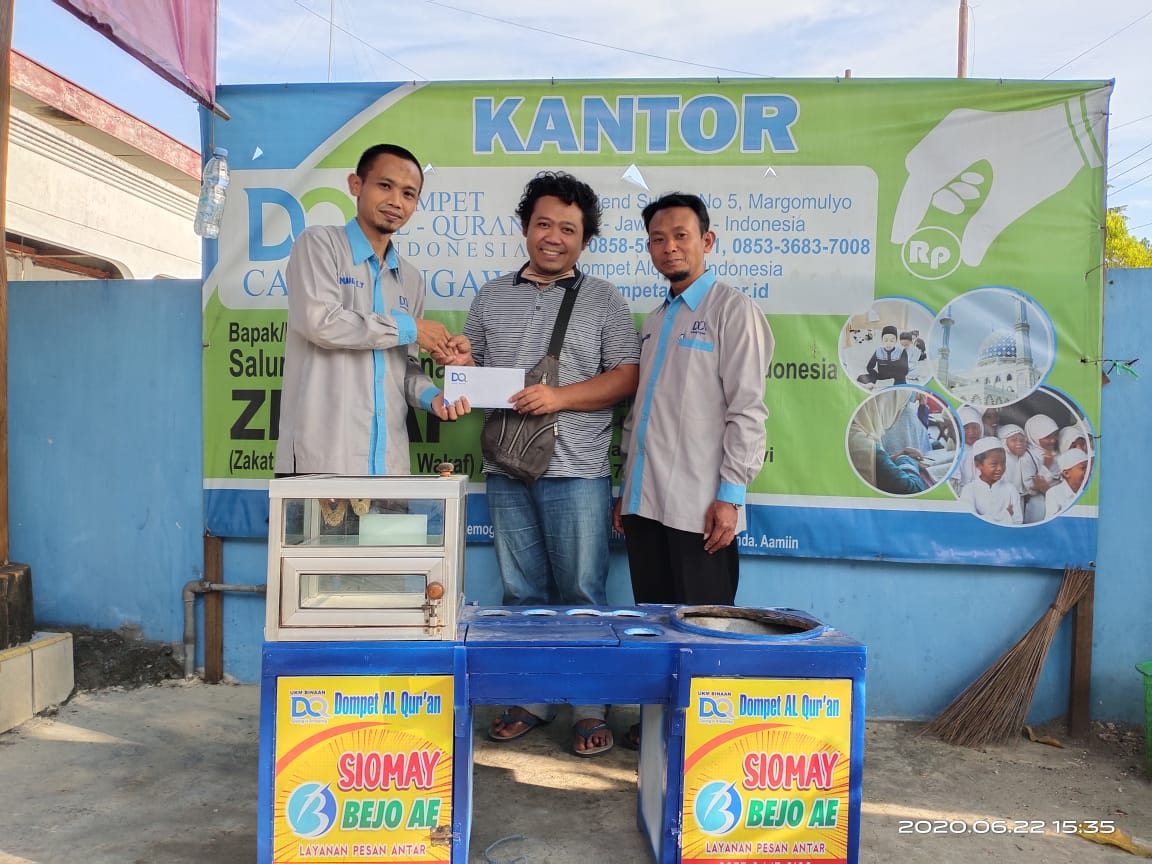 DQ Cabang Ngawi Sukseskan Program Economy Care Dengan Beri Modal Pada UMKM