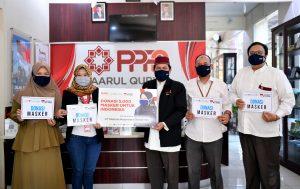 PPPA Daarul Qur'an Terima 5.000 Masker dari Metalizer