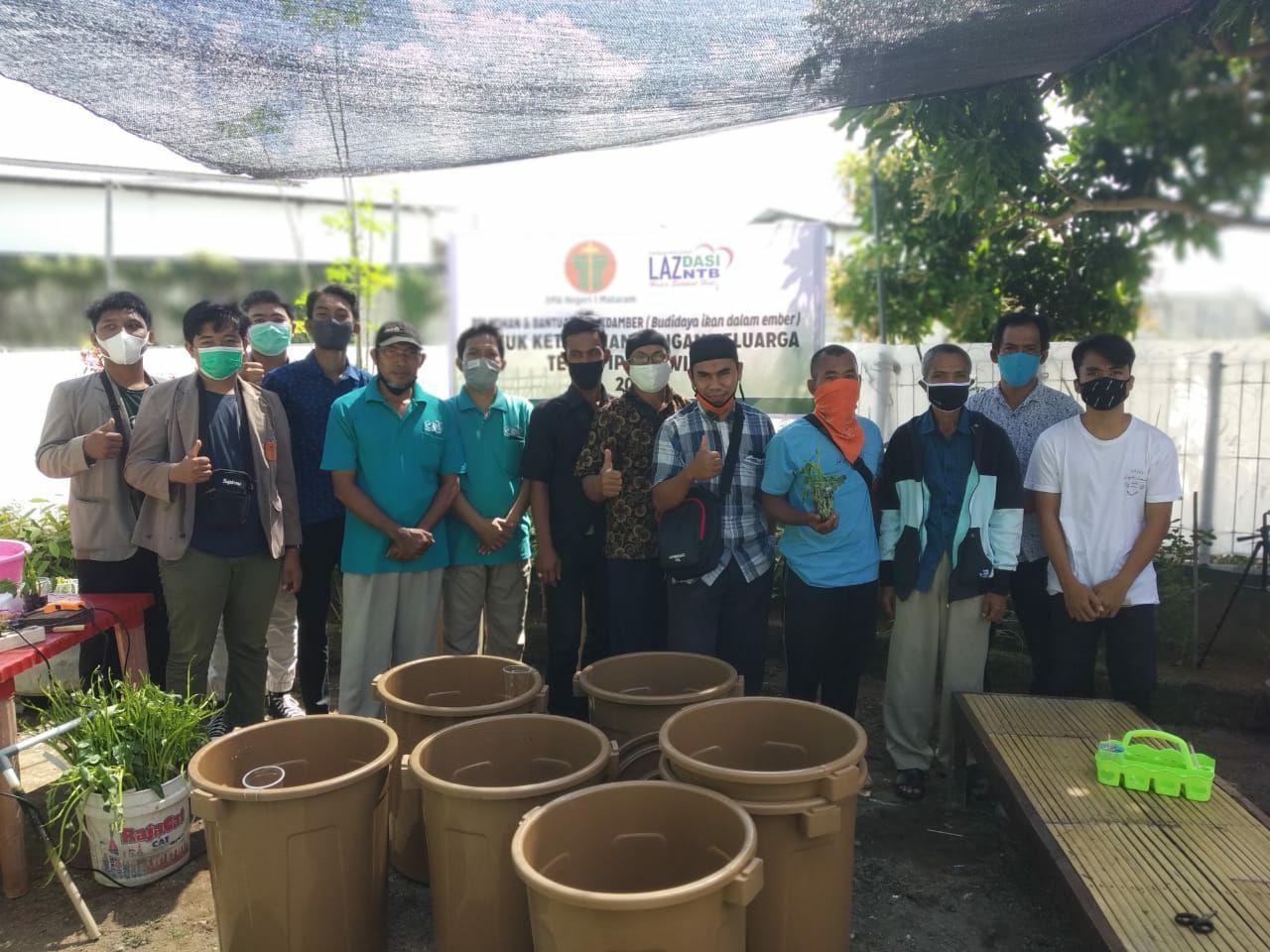 Gandeng Smansa Mataram, Laz Dasi NTB Latih Masyarakat 'BUDIKDAMBER'