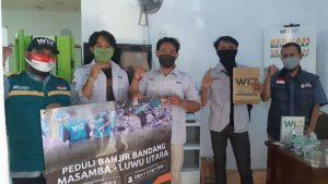 Bersama WIZ, Kopma STEI Rawamangun Peduli Banjir Masamba