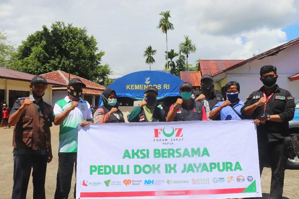 FOZ Papua Gelar Aksi Bersama Peduli Korban Kebakaran Dok IX Jayapura
