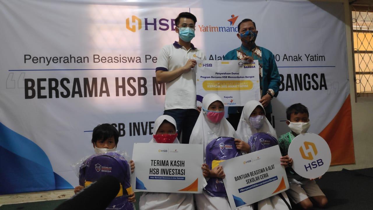 Bersama LAZNAS Yatim Mandiri, HSB Investasi Beri Beasiswa Untuk 300 Anak Yatim