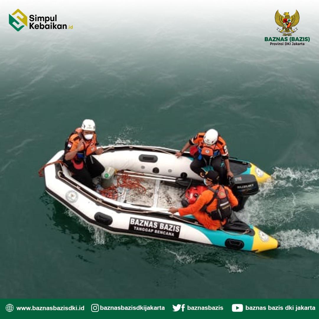 BAZNAS BAZIS Tanggap Bencana DKI Jakarta Bantu Proses Evakuasi Jatuhnya Pesawat Sriwijaya Air SJ-182