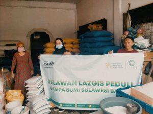 Relawan LAZGIS Peduli Salurkan Bantuan Untuk Korban Gempa Bumi Mamuju, Sulbar