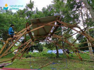 Rumah Amal Salman Bangun Tenda Berteknologi untuk Penyintas Gempa Mamuju