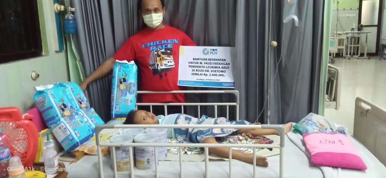 YBM PLN Berikan Kebutuhan Fauzi, Pasien Leukimia Selama di Rumah Sakit