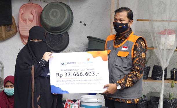 Askrindo Syariah dan Yatim Mandiri Salurkan Bantuan untuk Rumah Singgah Ar-Raudhoh