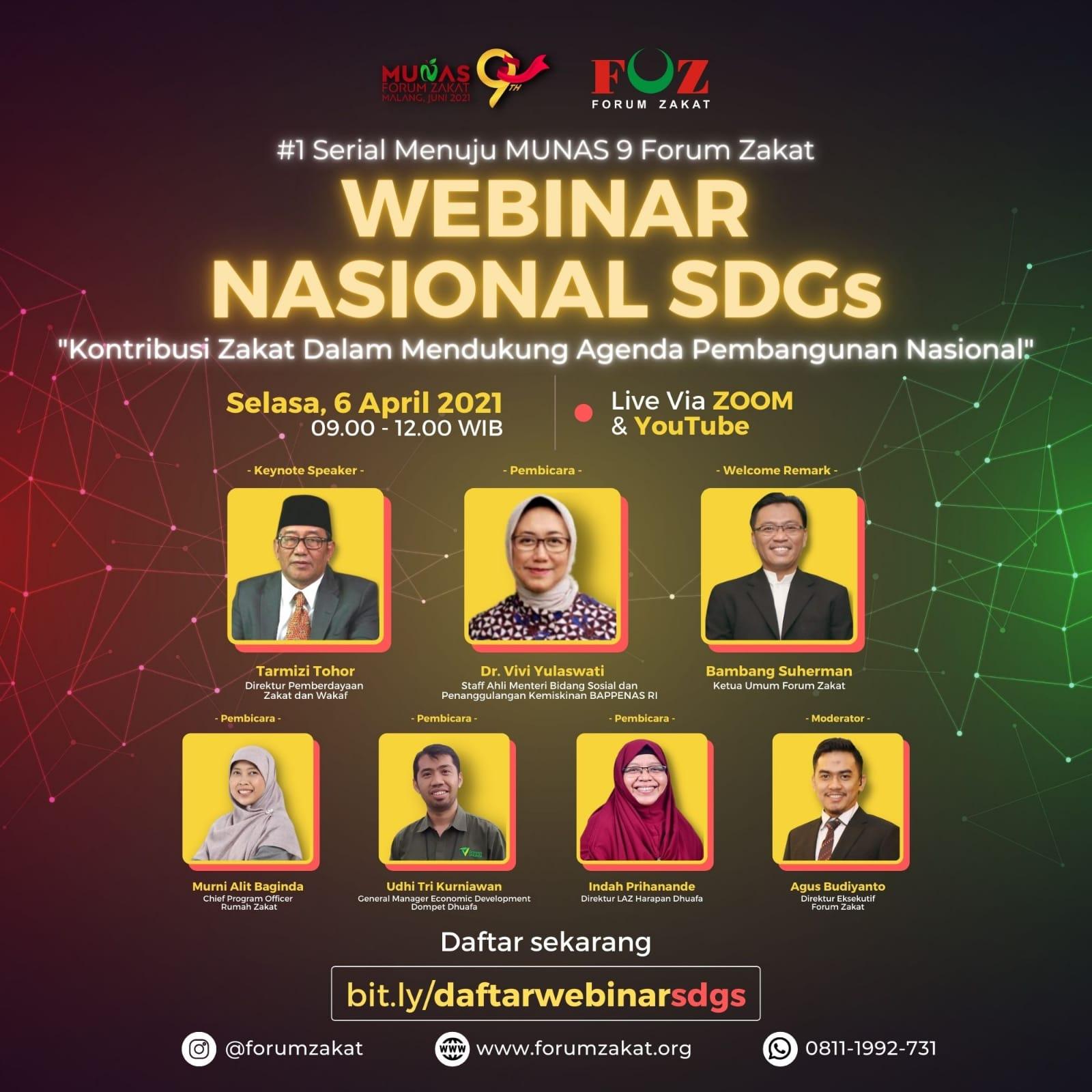 #1 Serial Menuju MUNAS 9 Forum Zakat | Webinar Nasional SDGs