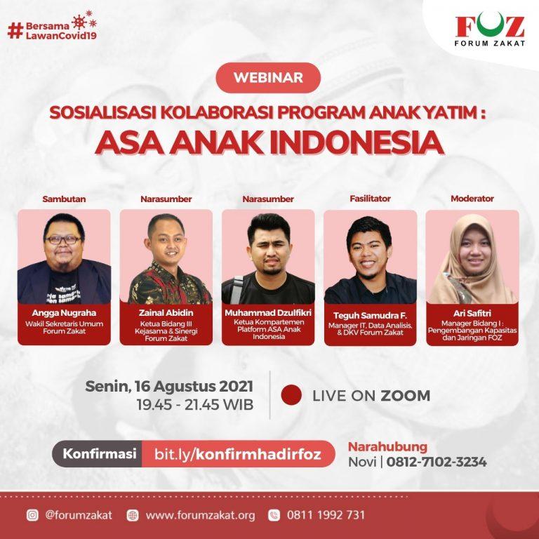 KOLABORASI PROGRAM ANAK YATIM : ASA ANAK INDONESIA